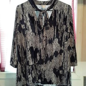 Women's Cato tie neck blouse
